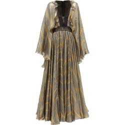 Giambattista Valli - Geometric-print Lace And Silk-blend Gown - Womens - Black Gold found on MODAPINS from Matches UK for USD $2603.04