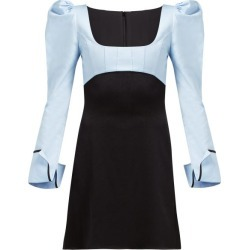 Ellery - Heritage Puff Sleeve Dress - Womens - Black Blue found on MODAPINS from Matches Global for USD $193.00