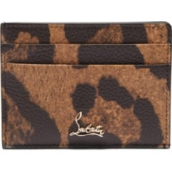 Christian Louboutin - Kios Leopard-print Leather Cardholder - Womens - Leopard found on Bargain Bro Philippines from Matches Global for $320.00