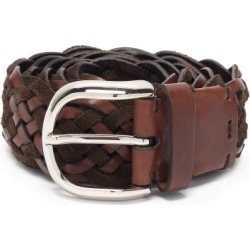 Brunello Cucinelli - Woven Suede And Leather Belt - Mens - Brown found on MODAPINS from Matches Global for USD $595.00