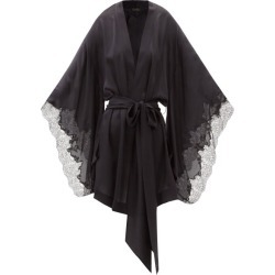Carine Gilson - Lace-trimmed Silk-satin Short Robe - Womens - Black found on MODAPINS from MATCHESFASHION.COM - AU for USD $2345.84