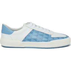 Amiri - Dagger Monogram Leather Trainers - Mens - White Multi found on MODAPINS from Matches Global for USD $275.00