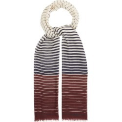 Valentino Garavani - Striped Cashmere-blend Scarf - Womens - Navy White found on Bargain Bro India from Matches Global for $465.00
