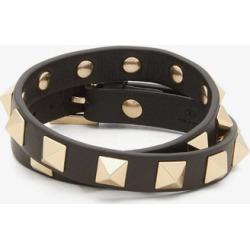 Valentino Garavani - Rockstud Leather Wrap Bracelet - Womens - Black found on Bargain Bro from Matches UK for £191