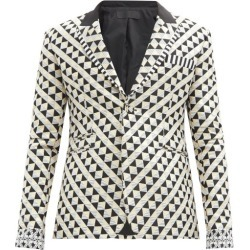 Haider Ackermann - Single-breasted Geometric-jacquard Jacket - Mens - Multi found on MODAPINS from MATCHESFASHION.COM - AU for USD $1788.75