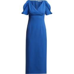 Emilia Wickstead - Karinette V-neck Midi Dress - Womens - Blue found on Bargain Bro India from Matches Global for $490.00