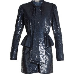 The Attico - Luna Peplum-waist Sequin-embellished Mini Dress - Womens - Blue Multi found on Bargain Bro India from Matches Global for $692.00