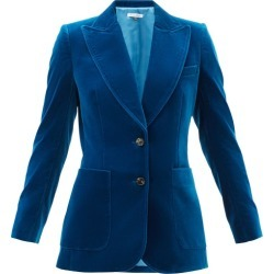 Bella Freud - James Cotton-velvet Single-breasted Jacket - Womens - Blue found on MODAPINS from MATCHESFASHION.COM - AU for USD $984.36