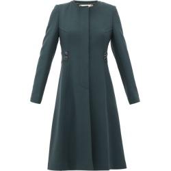 Goat - January Single-breasted Wool-crepe Coat - Womens - Dark Green