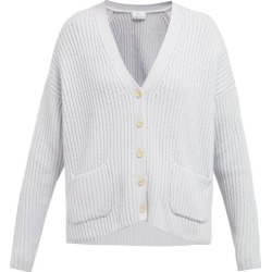Allude - Oversized Ribbed Cashmere Cardigan - Womens - Light Blue found on MODAPINS from Matches UK for USD $551.60