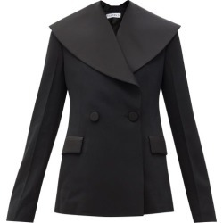 JW Anderson - Shawl-lapel Double-breasted Wool-gabardine Jacket - Womens - Black found on MODAPINS from MATCHESFASHION.COM - AU for USD $1657.75