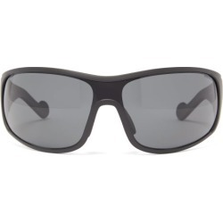 Moncler - Logo-stripe Acetate Cycle Sunglasses - Mens - Black found on Bargain Bro Philippines from MATCHESFASHION.COM - AU for $276.86
