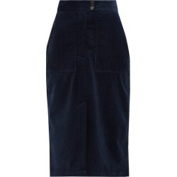 Bella Freud - Cotton-corduroy Midi Skirt - Womens - Navy found on MODAPINS from Matches UK for USD $421.70
