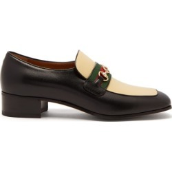 Gucci - Aylen Gg-horsebit Leather Loafers - Mens - Black Multi found on Bargain Bro UK from Matches UK