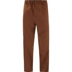 Marni - Elasticated-waist Tropical-wool Trousers - Mens - Brown found on Bargain Bro UK from Matches UK