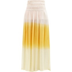 Anaak - Gioia Ruched Dip-dyed Cotton Maxi Skirt - Womens - Orange Multi found on MODAPINS from Matches Global for USD $357.00