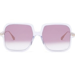 Dior Eyewear - Diorlink1 Square Acetate Sunglasses - Womens - Clear found on Bargain Bro UK from Matches UK