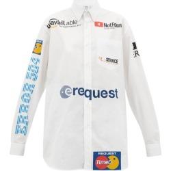 Vetements - Internet-branded Poplin Shirt - Womens - White Multi found on Bargain Bro UK from Matches UK