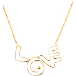 Marni - Love Beaded Necklace - Womens - Gold found on Bargain Bro UK from Matches UK