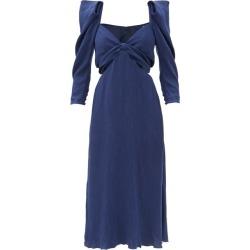 Johanna Ortiz - The Silence Inside Me Outout Cloqué Dress - Womens - Navy found on MODAPINS from MATCHESFASHION.COM - AU for USD $1217.59