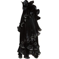 Givenchy - One-shoulder Ruffled Lurex Silk-blend Dress - Womens - Black Green found on Bargain Bro Philippines from MATCHESFASHION.COM - AU for $3751.67