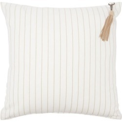 Brunello Cucinelli - Suede-tassel Striped Cotton-blend Canvas Cushion - White Stripe found on MODAPINS from Matches Global for USD $595.00