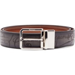 Berluti - Scritto Engraved Leather Belt - Mens - Black found on MODAPINS from Matches Global for USD $790.00