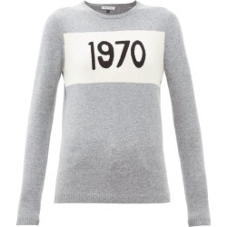 Bella Freud - 1970-intarsia Cashmere Sweater - Womens - Grey found on MODAPINS from MATCHESFASHION.COM - AU for USD $437.45