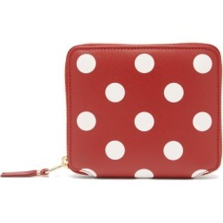 Comme Des Garçons Wallet - Polka-dot Leather Zip Wallet - Womens - Red Multi found on MODAPINS from MATCHESFASHION.COM - AU for USD $170.78