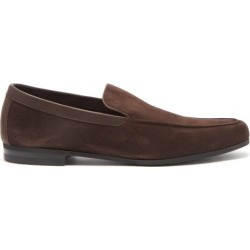 John Lobb - Tyne Leather-trimmed Suede Loafers - Mens - Dark Brown found on MODAPINS from Matches UK for USD $963.48