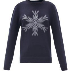 Aztech Mountain - Snowflake-intarsia Wool Sweater - Womens - Navy Print found on MODAPINS from Matches UK for USD $346.59