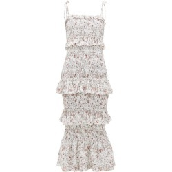 Sir - Haisley Floral-print Shirred Linen Dress - Womens - Ivory Multi found on Bargain Bro Philippines from MATCHESFASHION.COM - AU for $369.80