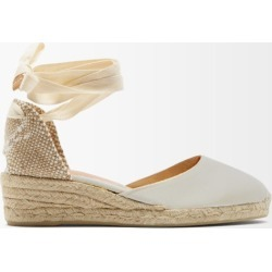 Castañer - Carina 30 Canvas & Jute Espadrille Wedges - Womens - Cream found on MODAPINS from Matches Global for USD $135.00