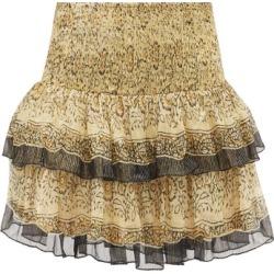 Mes Demoiselles - Mini-jupe en crêpe à imprimé floral Hibou found on MODAPINS from matchesfashion.com fr for USD $240.50