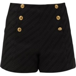 Givenchy - Button-front Logo-jacquard Cotton-blend Shorts - Womens - Black found on Bargain Bro Philippines from MATCHESFASHION.COM - AU for $987.28