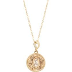 Azlee - Collier à pièce en or 18 carats et diamant