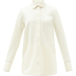 Jil Sander - Felted Wool-jersey Longline Shirt - Womens - Ivory found on Bargain Bro UK from Matches UK