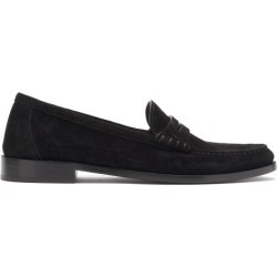 Saint Laurent - Suede Penny Loafers - Mens - Black found on Bargain Bro UK from Matches UK