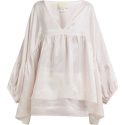 Anaak - Airi Silk Satin Blouse - Womens - Pink found on MODAPINS from Matches Global for USD $425.00