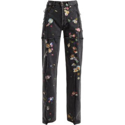 Vetements - Sticker Mid-rise Straight Leg Jeans - Womens - Dark Grey found on MODAPINS from Matches Global for USD $567.00