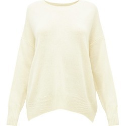 Allude - Oversized Round-neck Cashmere Sweater - Womens - Light Yellow found on MODAPINS from Matches Global for USD $209.00