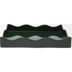 The Lacquer Company - X Rita Konig Belles Rives Medium Lacquer Tray - Green