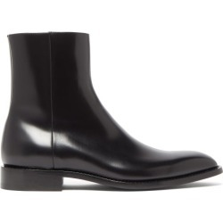 Balenciaga - Chrystal Polished-leather Boots - Mens - Black