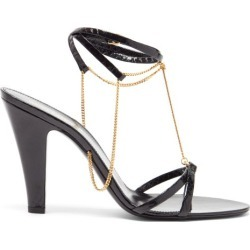 Saint Laurent - Sue Chain-embellished Leather Sandals - Womens - Black found on Bargain Bro UK from Matches UK