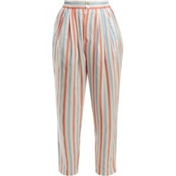 Thierry Colson - Sam Striped Silk Trousers - Womens - Red Stripe found on Bargain Bro Philippines from Matches Global for $183.00