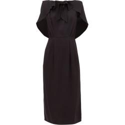 Prada - Cape-shoulder Crepe Midi Dress - Womens - Black found on Bargain Bro UK from Matches UK