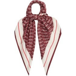 Valentino Garavani - Cursive Logo-print Silk-faille Scarf - Womens - Red found on Bargain Bro Philippines from Matches Global for $315.00