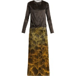 Adriana Iglesias - Mermaid Soho Floral-print Stretch-silk Gown - Womens - Black Gold found on Bargain Bro India from Matches Global for $590.00