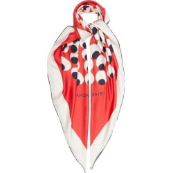 Givenchy - Abstract Circle-print Silk-twill Scarf - Womens - Red White found on Bargain Bro UK from Matches UK