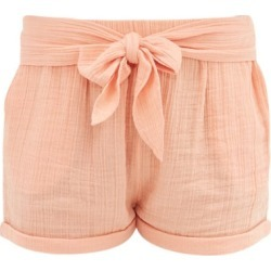 Anaak - Maithili Tie-front Cotton-muslin Shorts - Womens - Dark Pink found on MODAPINS from Matches Global for USD $155.00